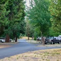 RV camping at F Loop.- Valley of the Rogue State Park Campground