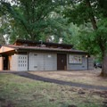 Each loop has a central bathroom building.- Valley of the Rogue State Park Campground