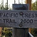 The Pacific Crest Trail runs right past Three Fingered Jack.- Three Fingered Jack Loop