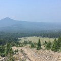 Looking west from the PCT.- Three Fingered Jack Loop