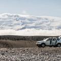 Vatnajökull National Park overtaking the horizon.- Diamond Beach