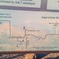 Map showing part of the Superstition Wilderness areas.- Hieroglyphic Trail