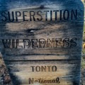 Entering the Superstition Wilderness.- Hieroglyphic Trail