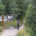 Starting off from the Butler Fork Trailhead in Big Cottonwood Canyon. - Mill A Basin Backpacking