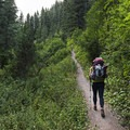 The first hill is really steep, especially with a full pack. - Mill A Basin Backpacking