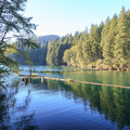 Lake outlet of the marina.- Cresap Bay Recreation Area Campground