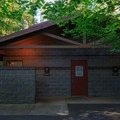Well-maintained restrooms and showers.- Cresap Bay Recreation Area Campground