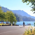 Double boat ramp in the day use area.- Cresap Bay Recreation Area Campground