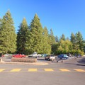 Substantial parking for boat trailers in the day-use area.- Cresap Bay Recreation Area Campground
