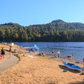 Buoyed off swimming area.- Cresap Bay Recreation Area Campground