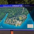 Map of Cresap Bay Recreation Area.- Cresap Bay Recreation Area Campground