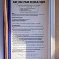 Lengthy rule list.- Cresap Bay Recreation Area Campground