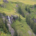 The waterfall near Bachläger.- Grindelwald to First