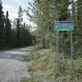 Entrance off Alaska Highway.- Mineral Licks Trail