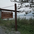 Signage at the campsite entrance. - Strawberry Flats Campground