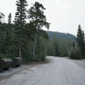 Garbage disposal and restroom area.- Strawberry Flats Campground
