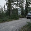 Typical length of site.- Strawberry Flats Campground