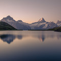 Bachsee at sunrise is spectacular.- Bachsee + First Round Trip