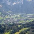 From First you can see all the way back down to the village of Grindelwald.- Bachsee + First Round Trip