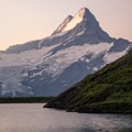 Schreckhorn seen across from Bachsee at sunrise.- Bachsee + First Round Trip