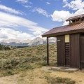 Primitive vault toilets are on both loops.- Rivers End Campground