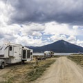 Upper loop road is popular for RVs.- Rivers End Campground