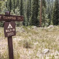 This is a tent camping site only.- Granite Tent Campground