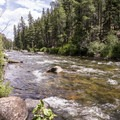 The Taylor River flows beside all the sites.- Granite Tent Campground