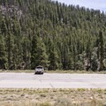 There is a large parking lot and a short walk to each site.- Granite Tent Campground