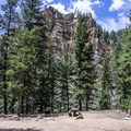Some sites have nice views of the canyon walls.- Rosey Lane Campground