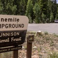 One Mile Campground entrance.- One Mile Campground