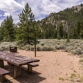 Canyon views highlight most campsites.- One Mile Campground