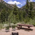 A great place to relax to the sound of the river.- One Mile Campground