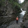 Teeter Creek Falls.- Teeter Creek Falls