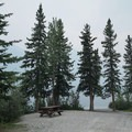 Typical length of a site. Each site contains a picnic table and a fire ring.- MacDonald Campground