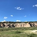 A picture from around the last bend to reach Deer Haven, which is the only wooded area in Badlands.- Deer Haven