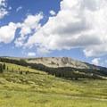 Meadows along the trail.- Cross Mountain Trail