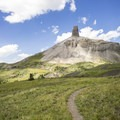 Lizard Head Peak is the icon of this adventure.- Cross Mountain Trail