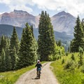 The San Juan Mountains are spectacular from the trail.- Galloping Goose Trail