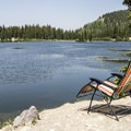 The shoreline is very accessible.- Alta Lakes Recreation Area