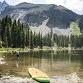 Beautiful mountain scenery at Alta Lakes.- Alta Lakes Recreation Area