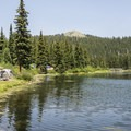 Primitive lakeside campsites at Alta Lakes.- Alta Lakes Recreation Area