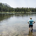 Alta Lake, a great place to cool off from the ride.- Alta Lakes Road
