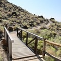 View of the trailhead.- Boca Negra Canyon: Mesa Point Trail