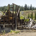 Collapsed structure at Alta Lakes.- Alta Lakes Ghost Town