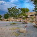 Though typically sunny, stormy skies can make for some pretty picturesque scenery.- Westside Campground
