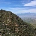 PCT traversing the hillside.- Pacific Crest Trail: California Section B