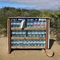 A well-stocked water cache.- Pacific Crest Trail: California Section B