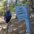 Leaving Idyllwild on the Devil's Slide Trail, the short but steep route back to the PCT.- Pacific Crest Trail: California Section B