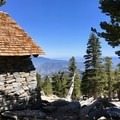 Views from the San Jacinto Peak shelter.- Pacific Crest Trail: California Section B